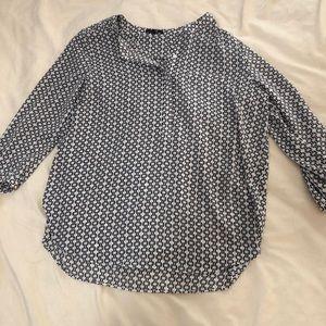 Long sleeved print blouse